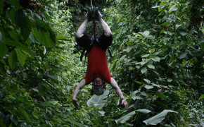 Upside Down Zip lining in Costa Rica