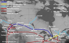 Canada Train Map, Canada train system
