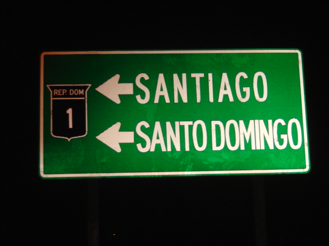 dominican republic sign, driving in dominican republic