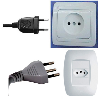 Outlet plug in Brazil, Outlet plug in south america, electrical outlets in Brazil, plugs in Brazil