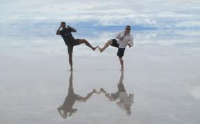 salar de uyuni, walking on water in bolivia, walking on water bolivia, pictures of bolivia salt flats, camera tricks