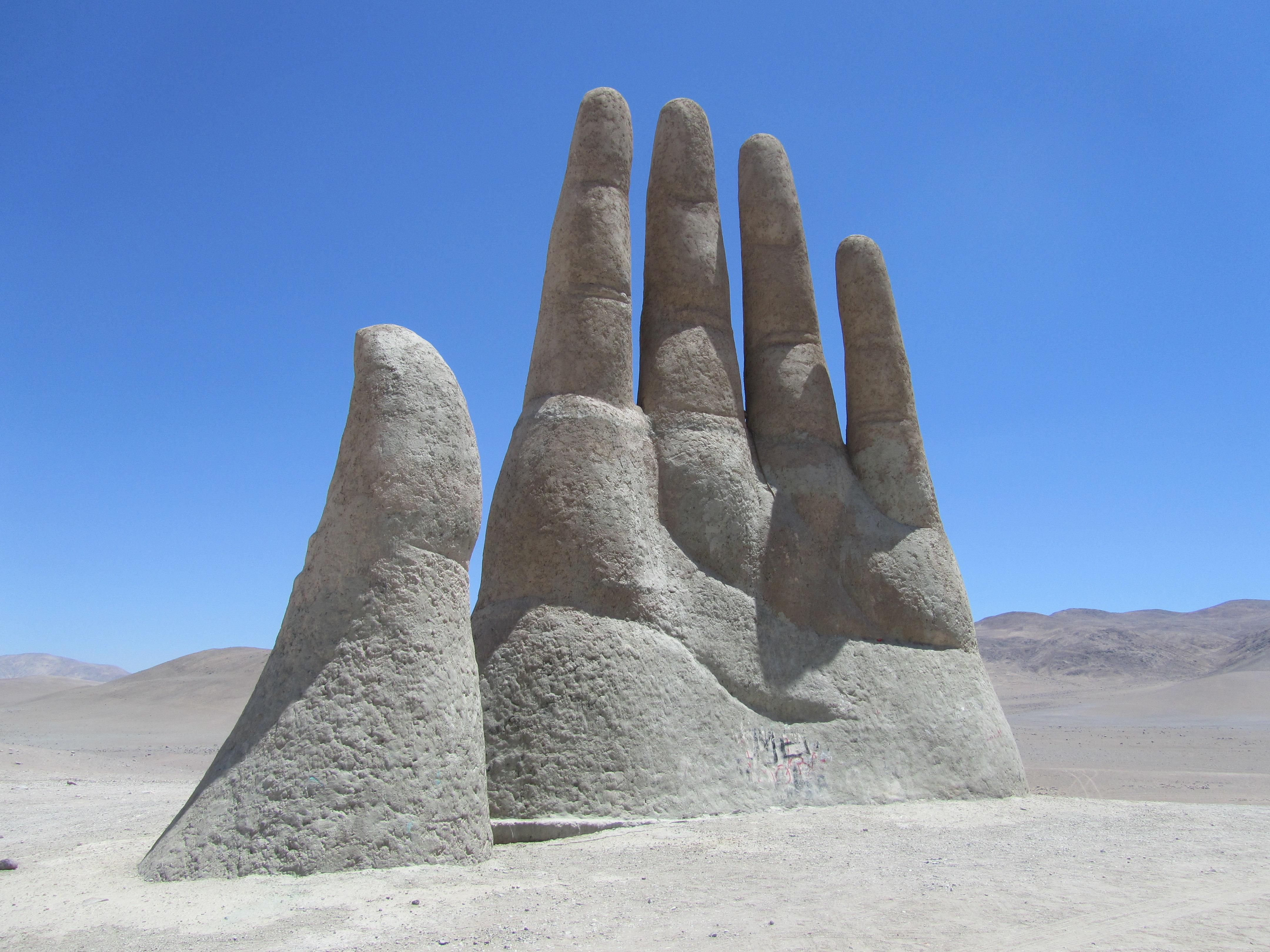 THE HAND IN THE DESERT- ATACAMA DESERT, CHILE