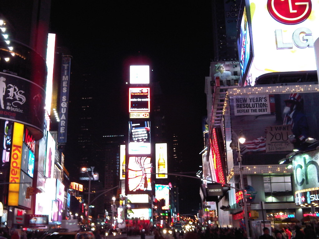 New york times square at night for Places to see in nyc at night