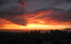 sunsets in south america, sunset in Santiago, pictures of chile, pictures in santiago