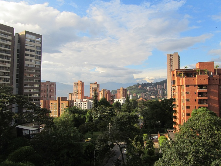 living in medellin, living in colombia, view from penthouse, medellin