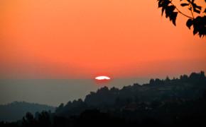 Sunset in Israel, kibbutz sunset israel