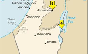 map of israel, israel map