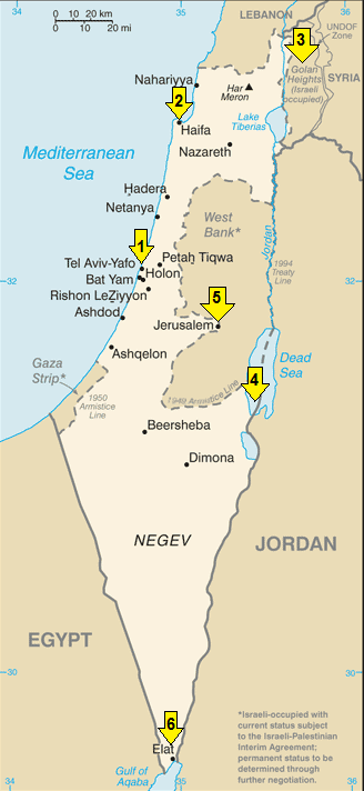 map of israel, israel map