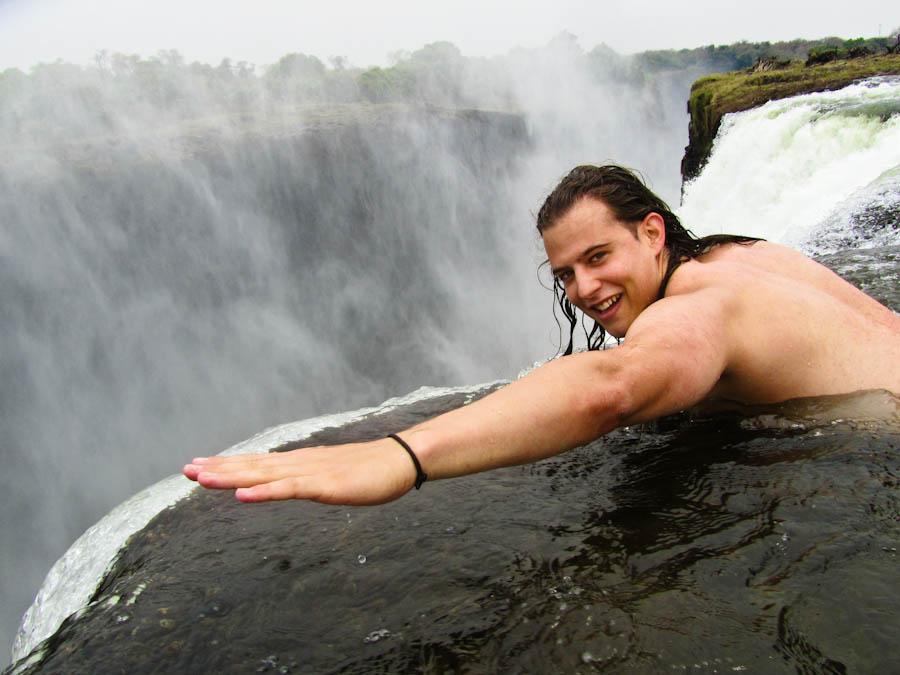 Marcello Arrambide - Wandering Trader - Devils Pool, devil's pool zambia, devil's pool, devils pool Victoria Falls