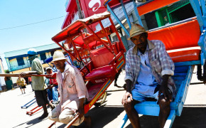 Pousse Pousse driver in Madgascar