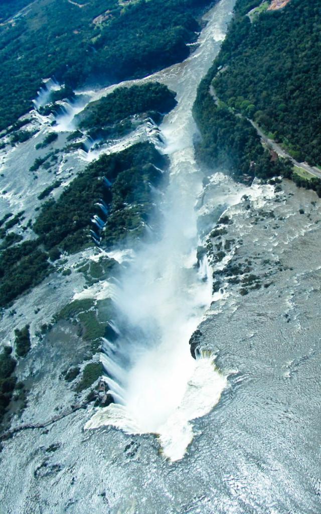 iguazu falls aerial view, iguazu falls aerial pictures, iguazu falls aerial photos