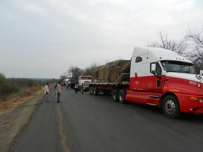 semi truck in zambia, africa