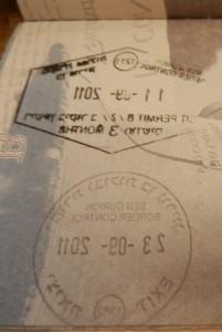 Israeli Stamp on passport, isreali stamp