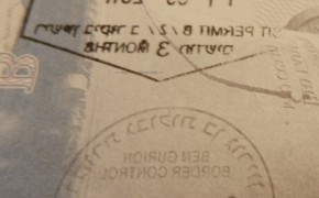 Israeli Stamp on passport, isreali stamp