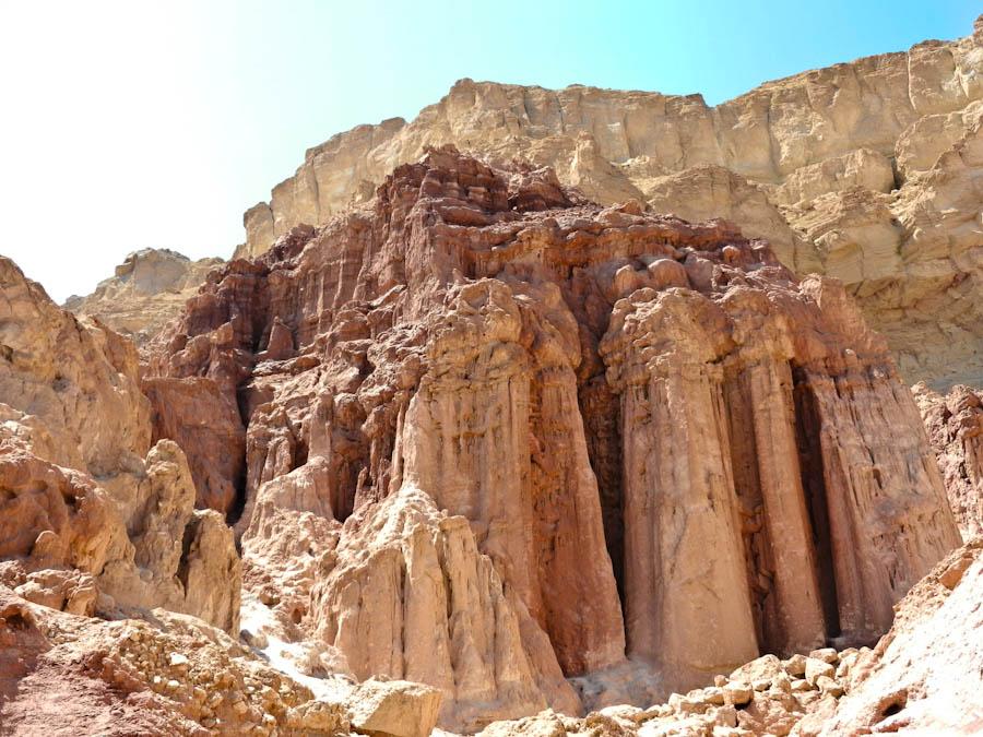 nubian sandstone, amram pillars, pillars israel