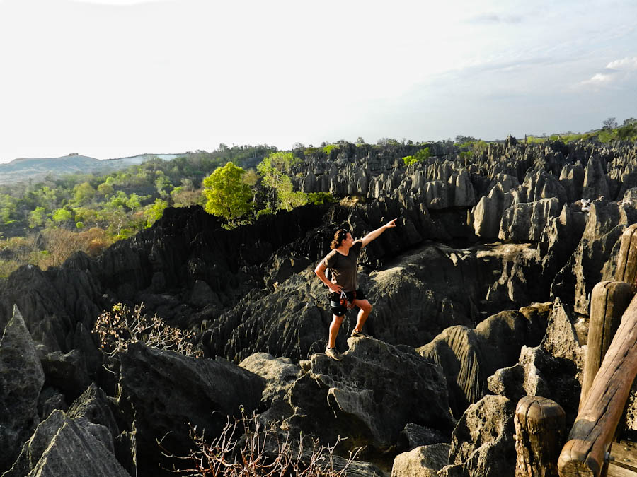 climbing the stone forest