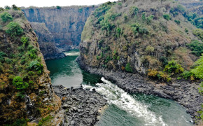 Thumbnail image for Victoria Falls Gorge: Border Between Zambia & Zimbabwe