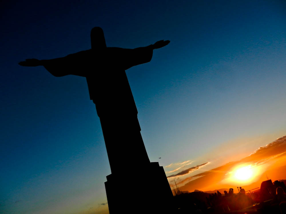 Sunset At Christ Statue