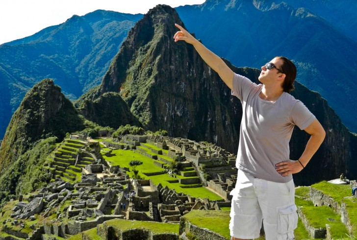 Poses at Machu Picchu