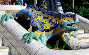 Parc Güell Dragon In Barcelona