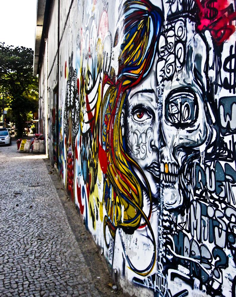 Graffiti in Rio De Janeiro Brazil