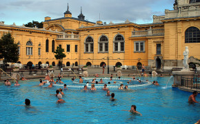 Old thermal spa in Budapest