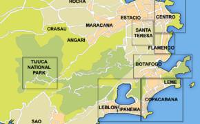 map of neighborhoods in Rio De Janeiro