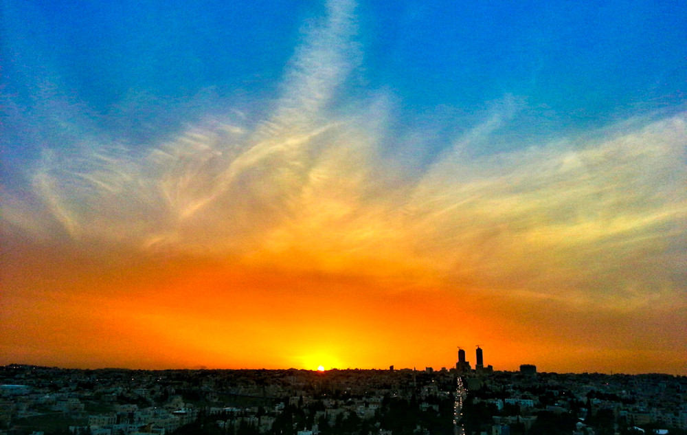 Sunset in Amman Jordan