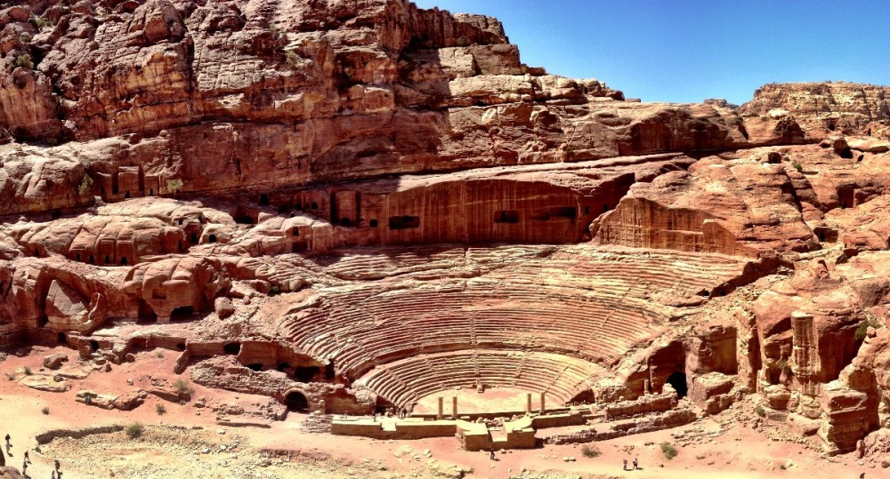 The theater at Petra