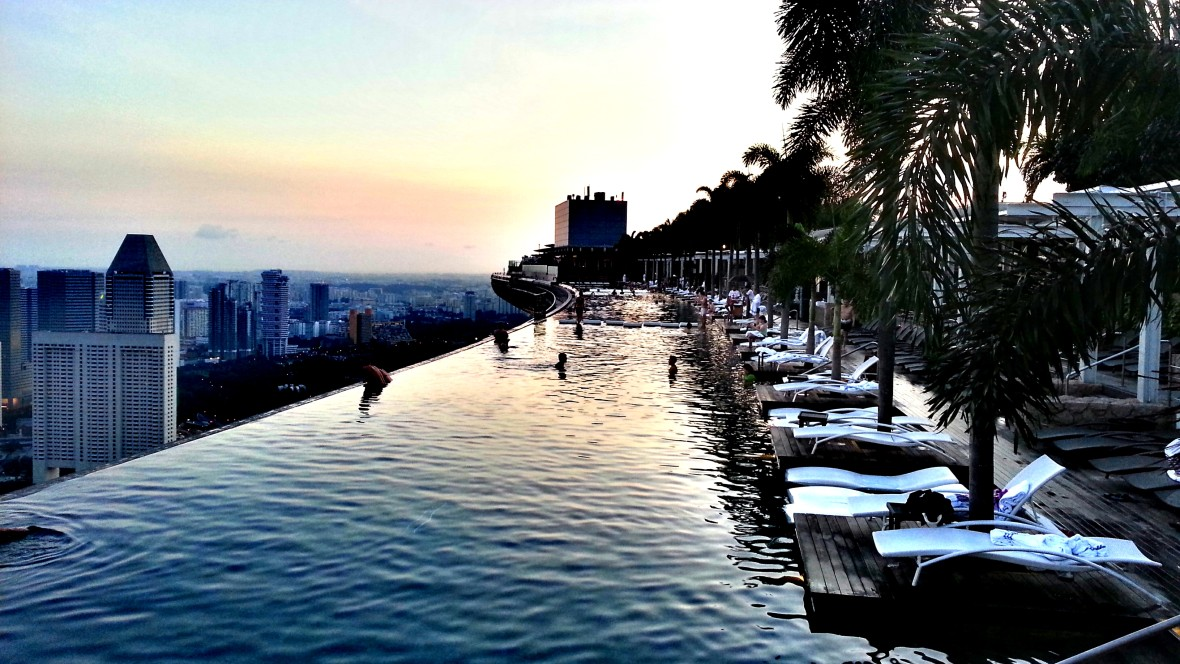 One of the top things to do in Singapore - Swim in the Marina Bay Sands Rooftop Pool