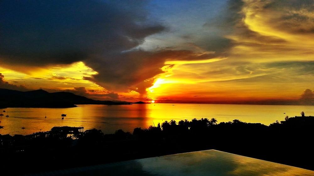 Sunset in Koh Samui Thialand