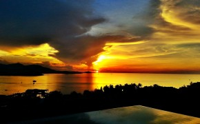 Sunset in Koh Samui Thialand