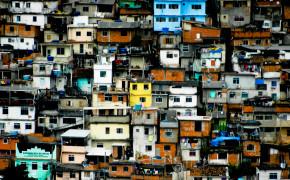 Favela Texture In Rio De Janeiro
