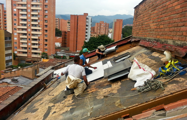 Getting the Roof Fixed in Medellin