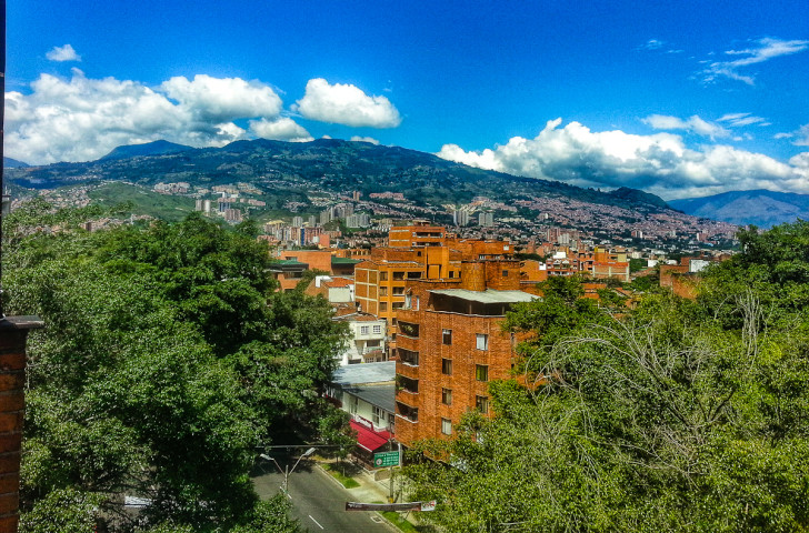 View From The Penthouse In Medellin