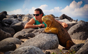 Land Iguanas In Galapagos