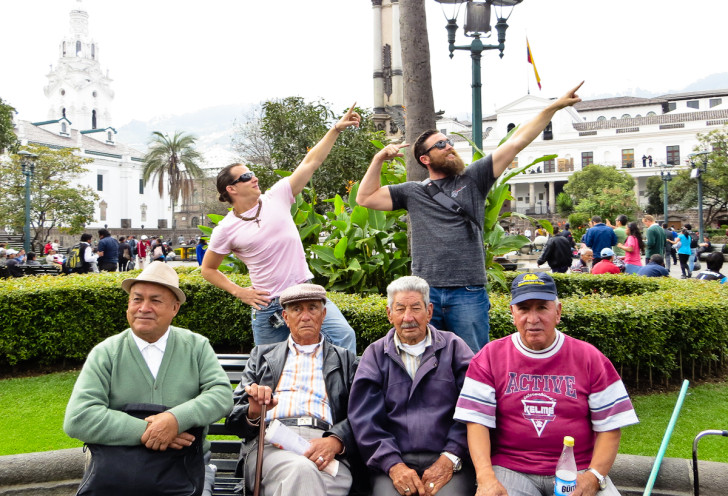 Striking a Pose in Quito
