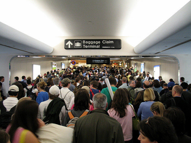 crowded airport