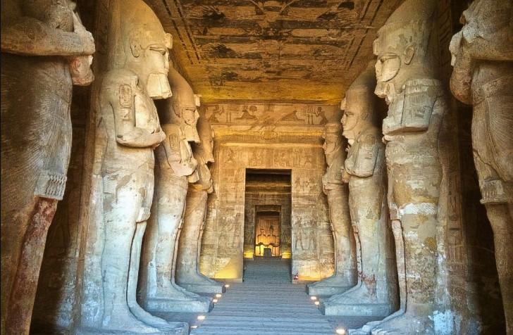 Inside Abu Simbel Temples