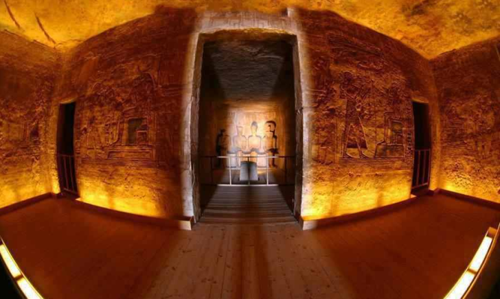 Sun Shining in Abu Simbel Temple