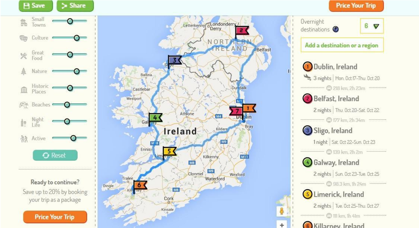 route perfect 2 ireland map