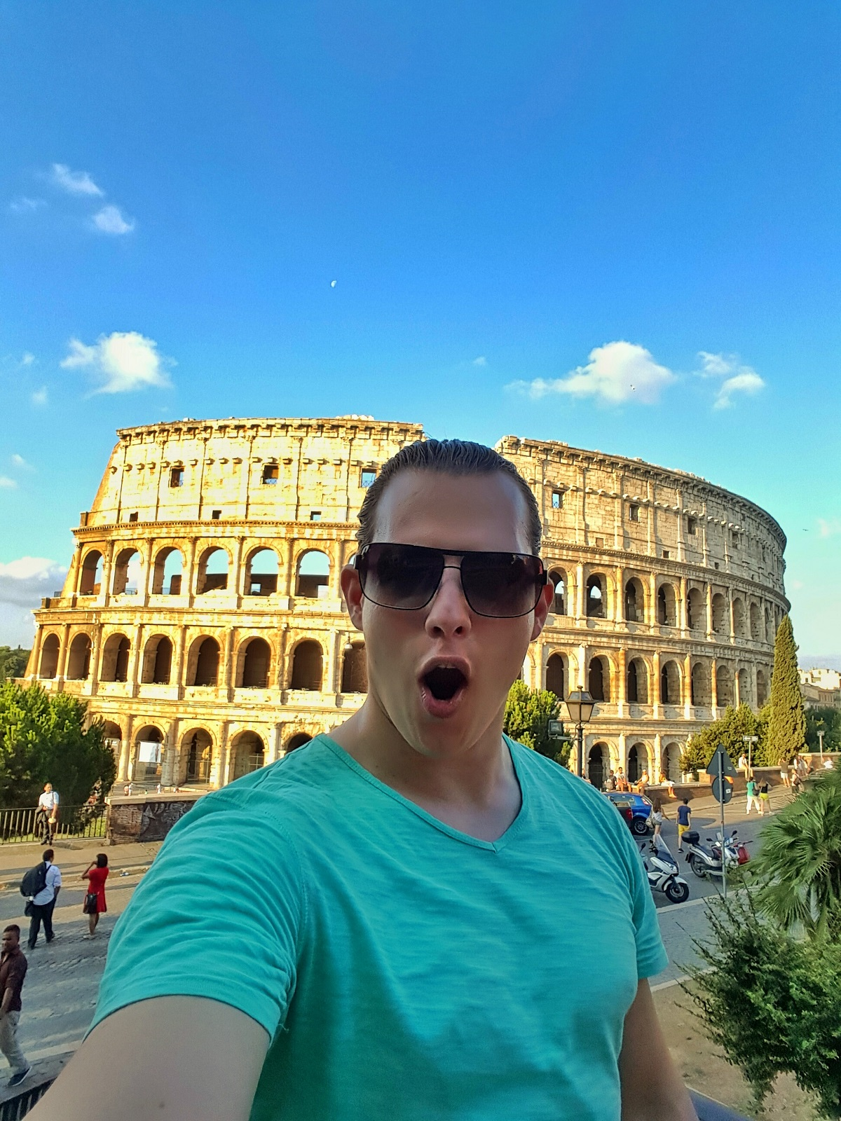 Selfie at the Colosseum