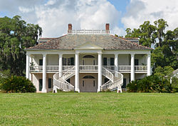 Historic Antebellum Evergreen Plantation In Wallace, Louisiana