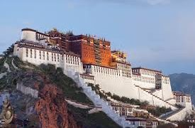 The Divine Potala Palace Of Tibet, Former Home Of The Dalai Lama