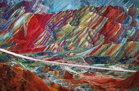The Colorful Zhangye Danxia National Geopark, Rainbow Mountains of China