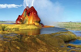 Fly Geyser In Nevada, An Accidental But Colorful Creation