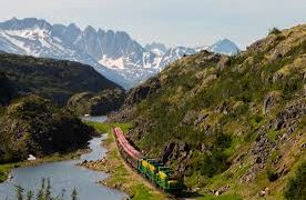 White Pass And Yukon Route Railway In Alaska, A Most Scenic Mountain Trip