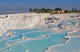 Pamukkale Hot Springs In Southwest Turkey And The Greco-Roman City Of Hierapolis